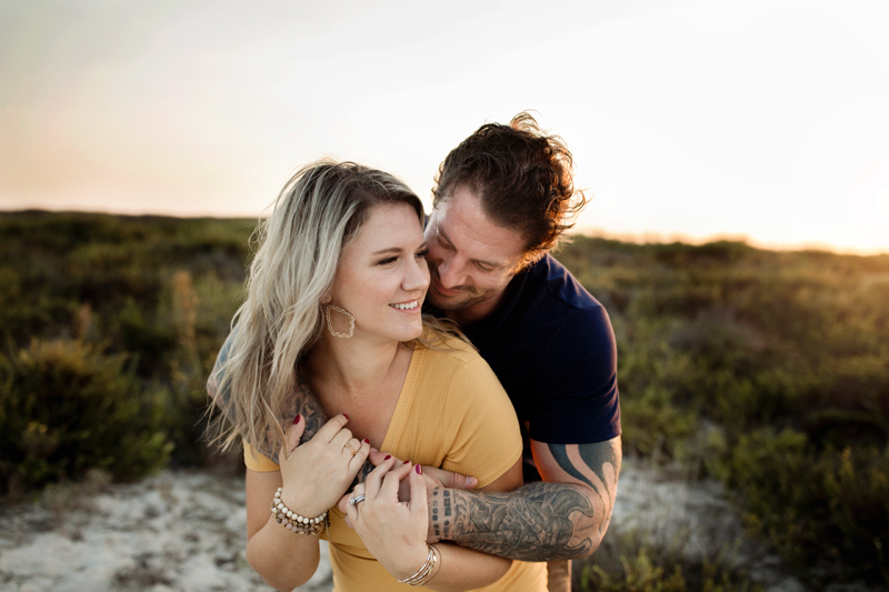 San Diego Family Photography, man holding woman with his arms around her